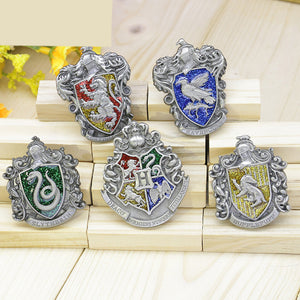 Harry Potter Hogwarts School Gryffindor&Ravenclaw&Slytherin&Hufflepuff Metal Badge Pin Set(5 pcs) - icoshero