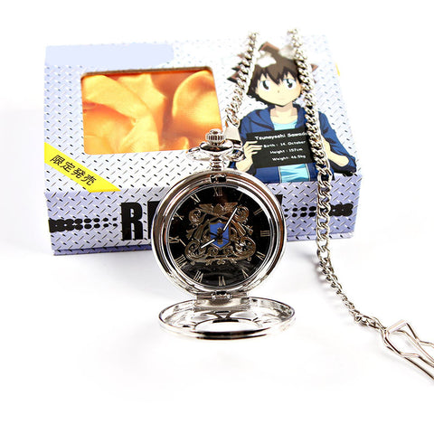 Katekyo Hitman Reborn! Vongola Family Badge Pattern Hollowed-out Pocket Watch - icoshero