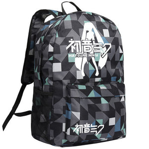 Hatsune Miku Image Pattern Camo Backpack Bag - icoshero