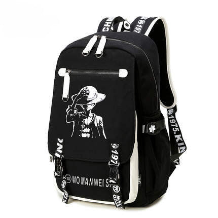 One Piece Kaizokuou Luffy Black Backpack Bag - icoshero