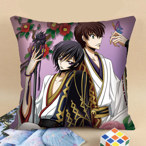 Code Geass:Lelouch of the Rebellion Lelouch C.C. Image Pattern Square Pillow Cushion 40cm*40cm/45cm*45cm - icoshero