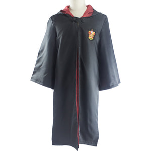 Harry Potter Hogwarts School Wizard&Witch Black Magic Robe Hooded Uniform Cosplay Costume Gryffindor/Ravenclaw/Slytherin/Hufflepuff - icoshero