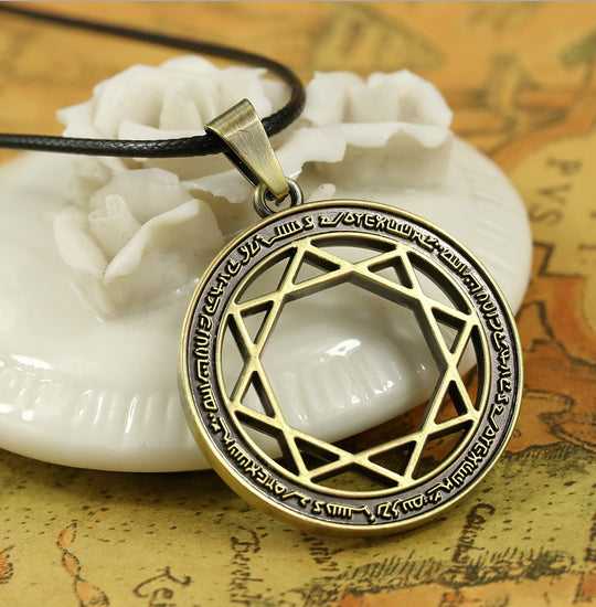 Magi: The Labyrinth of Magic Ren Gyokuen Villains' Organization Eight-pointed Star Mark Pendant Necklace - icoshero