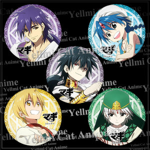 Magi: The Labyrinth of Magic Alibaba Aladdin Sinbad Jafar Judar Pattern Badge Bag Accessory - icoshero