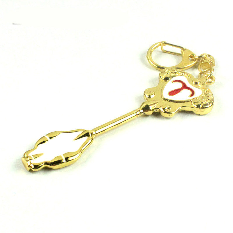 Fairy Tail Lucy Heartfilia Gold Zodiac Constellation Magic Key Accessory Key Ring - icoshero