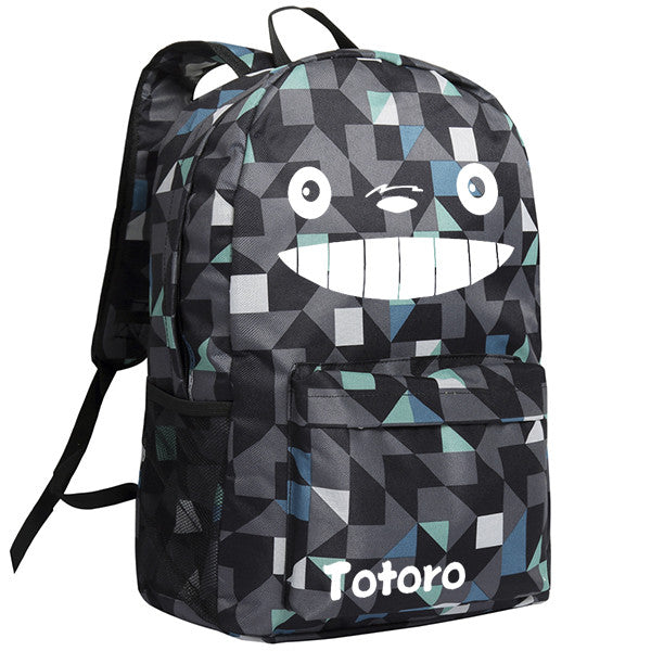 Totoro  Image Pattern Black/Camo Backpack Bag - icoshero