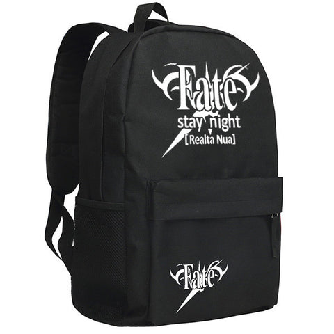 Fate/Stay Night and Fate/Zero Mark Pattern Black Backpack Bag - icoshero
