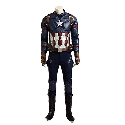 Men's Captain America Civil War The Avengers Steve Rogers Cosplay Costume Suit - icoshero