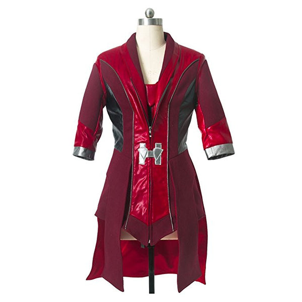 Marvel Comics The Avengers Scarlet Witch Cosplay Costume Coat Red Overcoat - icoshero