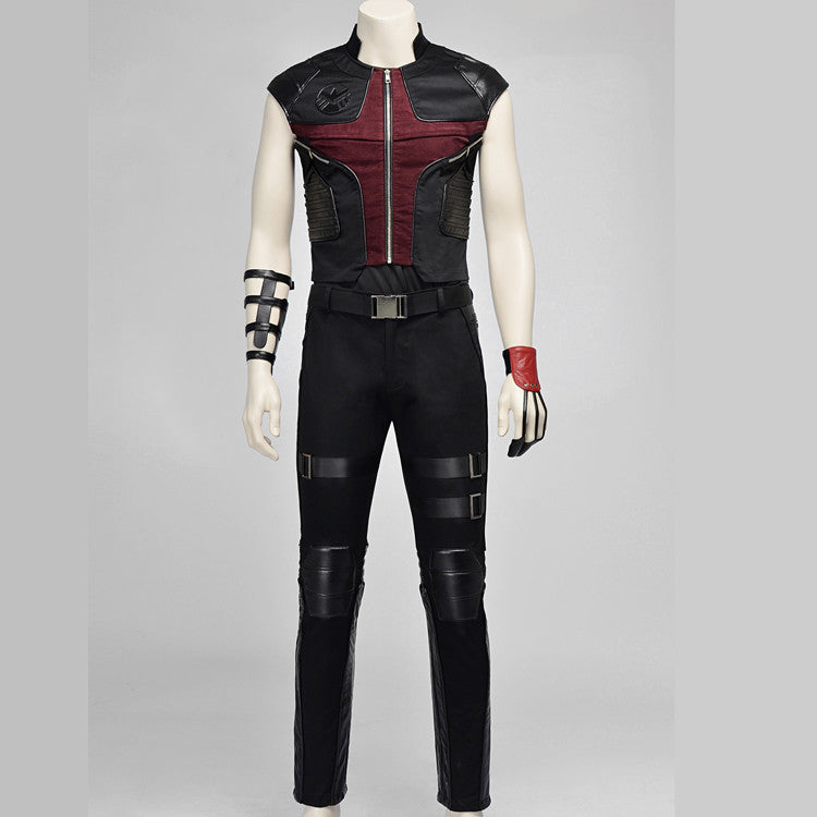 Marvel Comics The Avengers Hawkeye Barton Cosplay Costume Archery Suit - icoshero