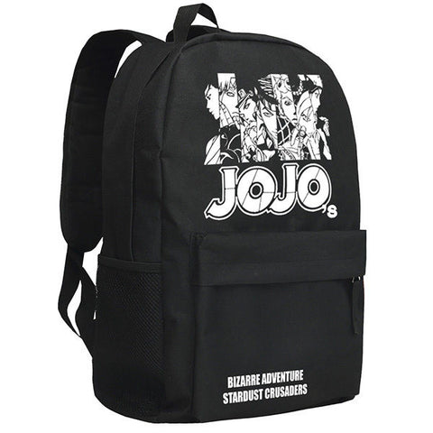 JoJo's Bizarre Adventure Pattern Black Backpack Bag - icoshero