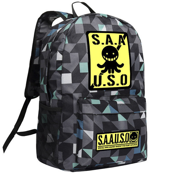 Assassination Classroom Korosensei Pattern Backpack Bag - icoshero