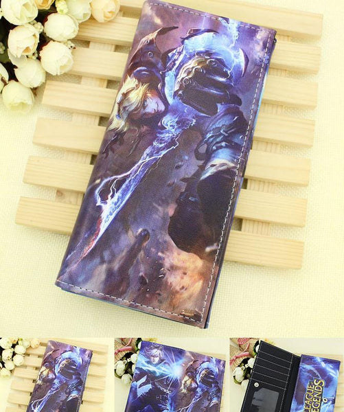LOL League of Legends Digital Printing Rectangle Billfold Wallet - icoshero