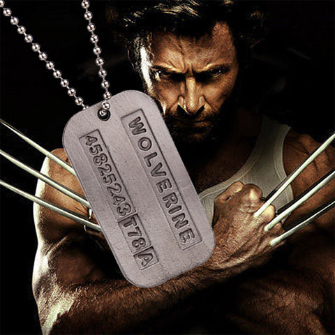 Marvel Comics X-Men Origins: Wolverine Logan Metal Badge Necklace - icoshero