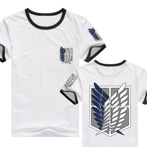 Attack on Titan Shingeki Wings of Freedom Short Sleeve Printed T-shirt Top - icoshero