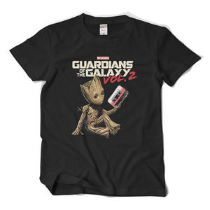 c911bab38 Men's Guardians of the Galaxy Vol.2 Short Sleeve T-shirt Top Groot Rocket