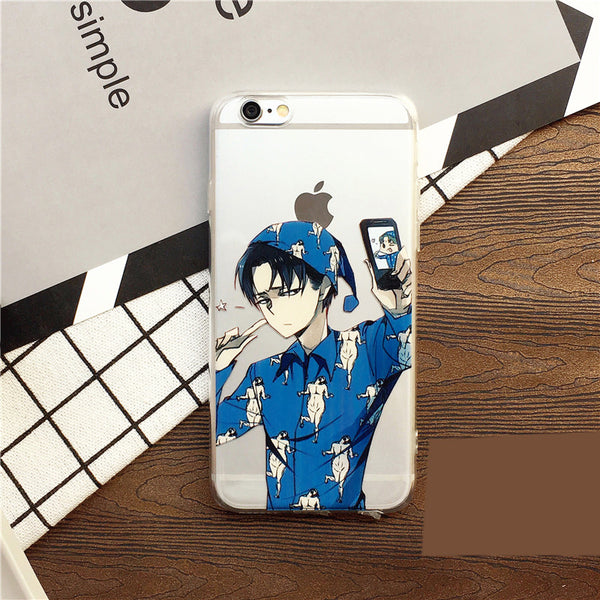 Attack on Titan Printed IPhone case Transparent Silicone Phone Shell IPhone 6/6s,6p/6sp,7,7p - icoshero