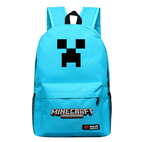 Students' Minecraft Creeper Printed Backpack Bag - icoshero