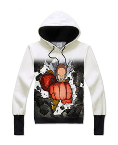 One Punch Man Finger-less gloved Hoodie - icoshero