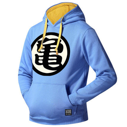 Men's Dragon Ball Logo Printed Fleeced Hoodie (Kame) - icoshero
