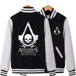 Assassin's Creed IV Black Flag Baseball Fleece Jacket - icoshero