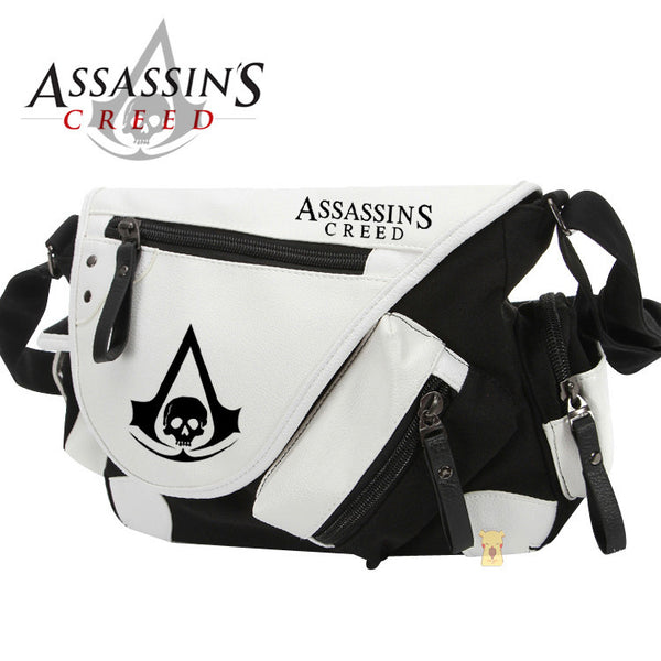 Assassin's Creed PU Leather Contrast Color Messenger Bag - icoshero