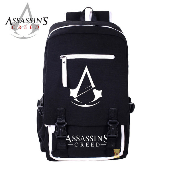 Assassin's Creed PU Leather Contrast Color Back Pack - icoshero