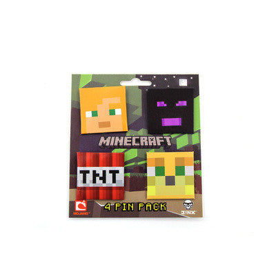 Minecraft Character Shaped Brooch Badage Value Pack(4PCS) - icoshero