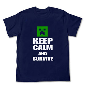 Minecraft  Creeper Keep Clam and Survive T-shirt - icoshero