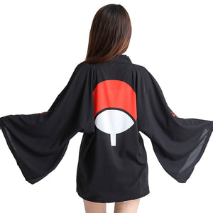 Japanese Anime Chiffon Cardigan Costume Cloak Cosplay Robe Kimono-Uchiha Family - icoshero