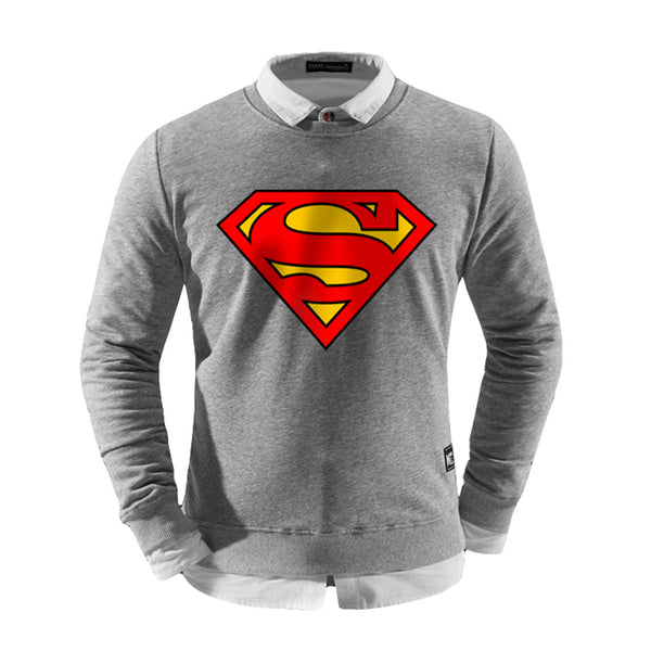 Men's DC Comics Superman Logo Layered Pullover Sweatshirt - icoshero