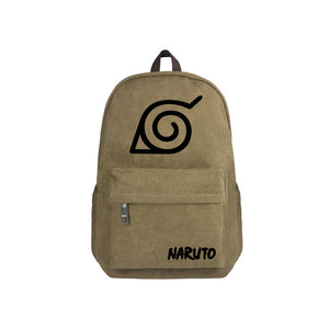 "Japanese Anime Naruto Canvas 17"" Bag Backpack - icoshero"