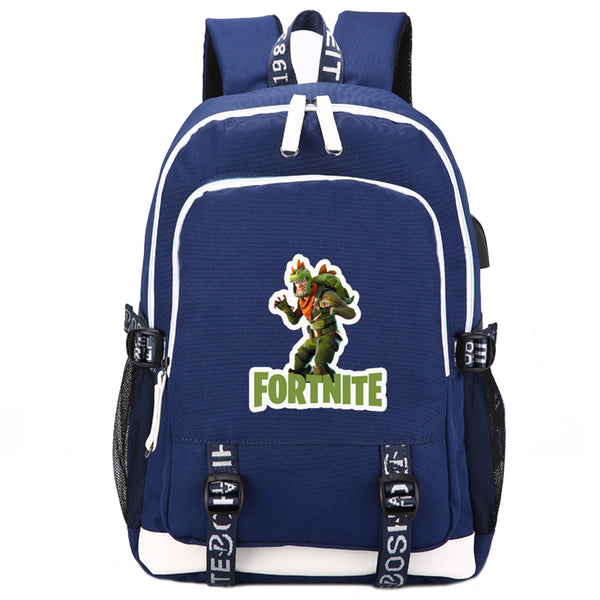 Game Fortnite USB Student Backpack - icoshero