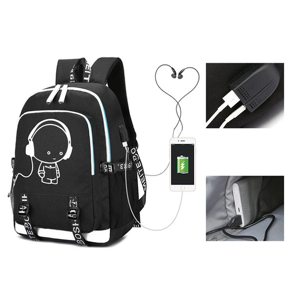Game Fortnite Luminous USB Student Backpack - icoshero