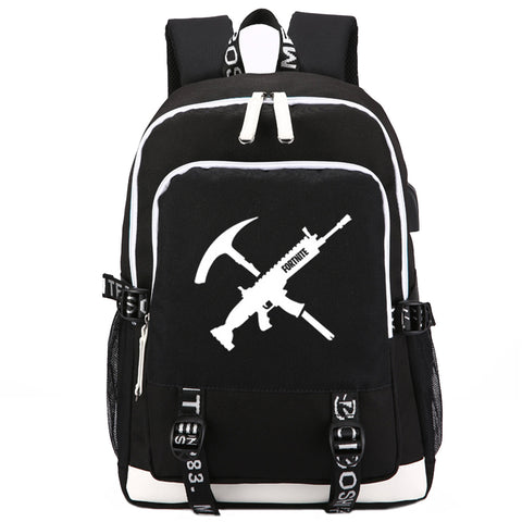 "Game Fortnite 17"" USB Backpack - No Luminous - icoshero"