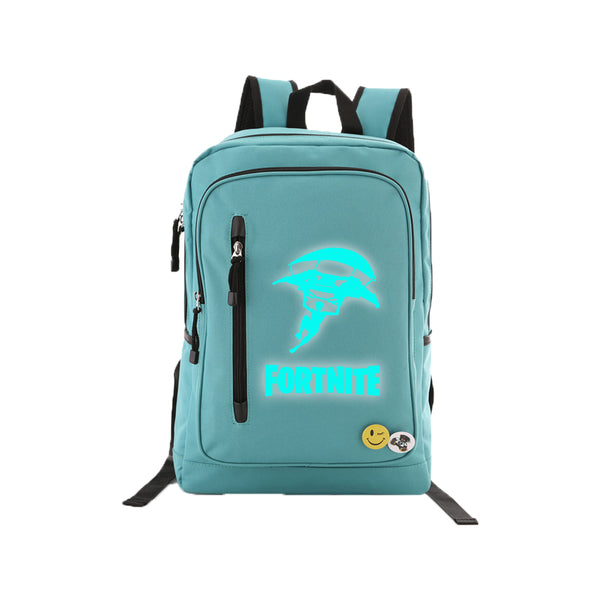 "Game Fortnite 17"" Teens Backpack - Blue Luminous - icoshero"