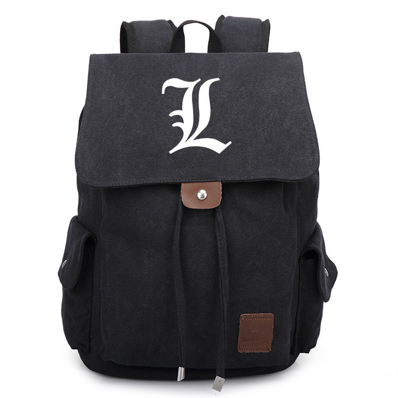 Death Note Casual Book Bag Canvas Backpack - icoshero