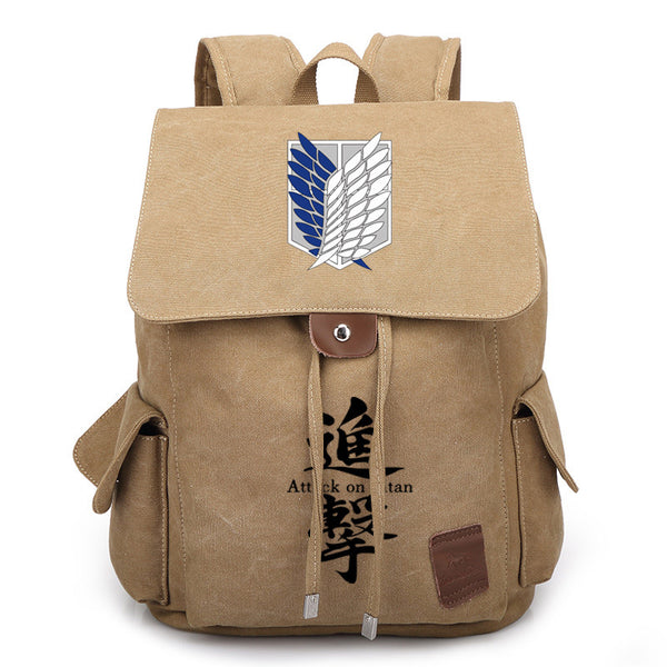 Anime Comics Attack On Titan Rucksack Backpack - Blue - icoshero