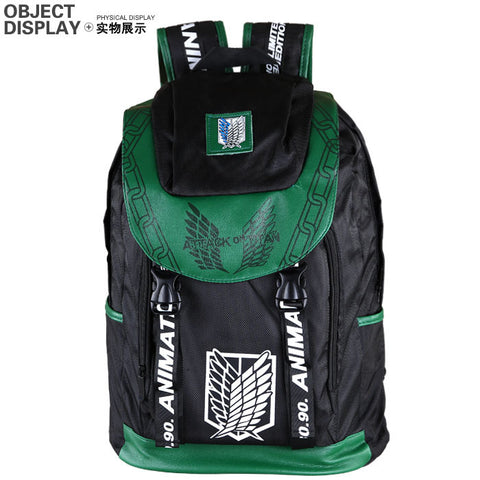 Anime Comics Attack On Titan Daypack Backpack - icoshero