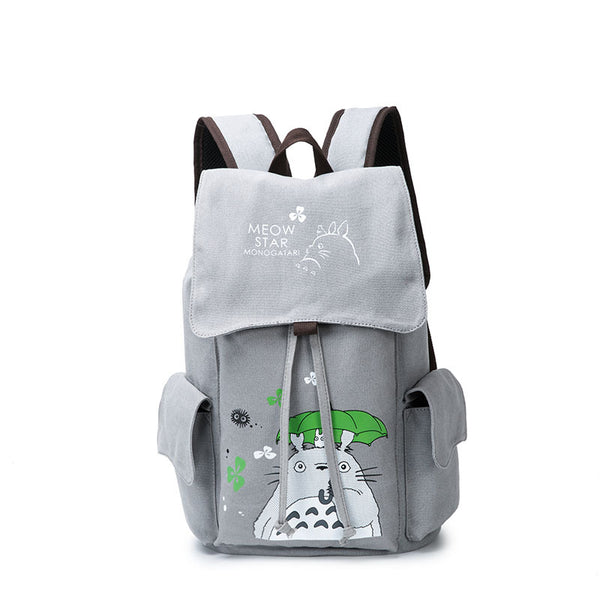 Anime Comics Totoro Drawstring Backpack - icoshero