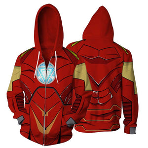 Iron-man Tony Stark Zip Up Hoodie MZH00L - icoshero