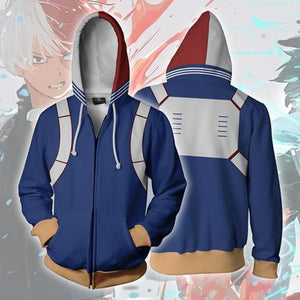 My Hero Academia Shoto Todoroki Zip up Hoodie MZH016 - icoshero