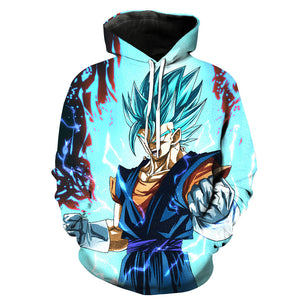 Dragon Ball Z Vegito Blue Awesome Graphic Pullover Hoodie MZH025 - icoshero