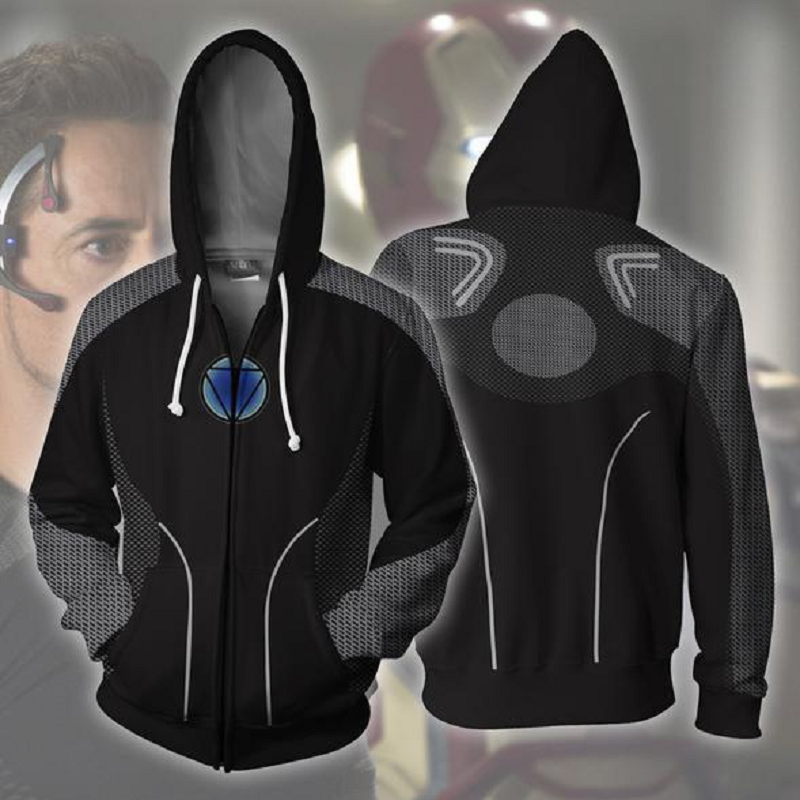 Avengers Iron-Man Zip Up Hoodie MZH150 - icoshero