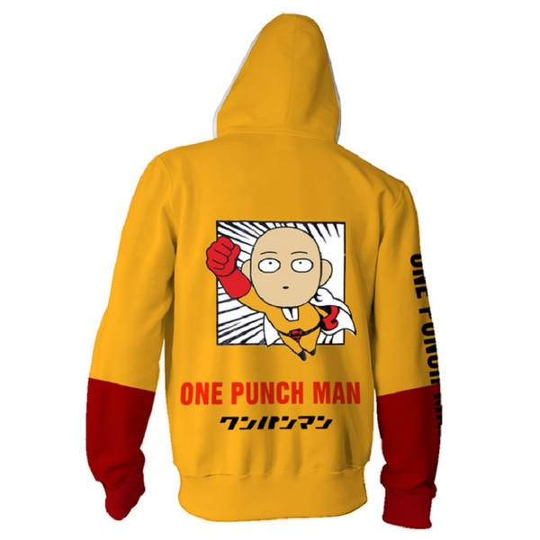 One Punch-Man Zip Up Hoodie MZH158 - icoshero