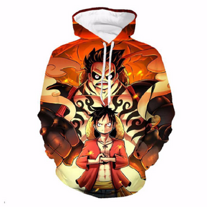 One Piece Monkey D. Luffy Pullover Hoodie MZH175