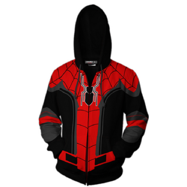 Avengers Spider-Man Zip Up Hoodie MZH183 - icoshero
