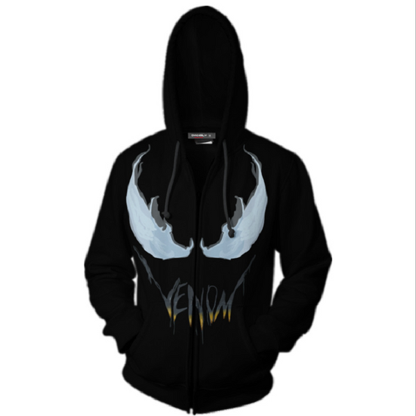 Spider-Man Venom Zip Up Hoodie MZH189 - icoshero
