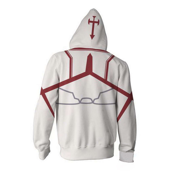 Sword Art Online White Zip Up Hoodie MZH203 - icoshero