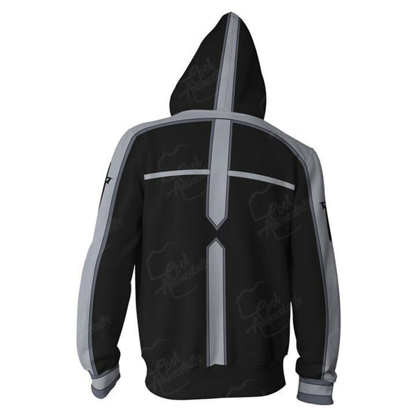 Sword Art Online Black Zip Up Hoodie MZH204 - icoshero
